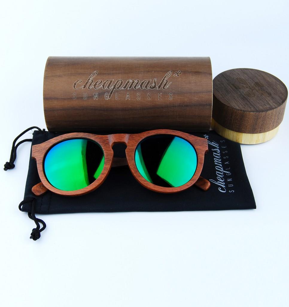 Cheapmash Occhiali da Sole in Legno - Wooden Sunglasses